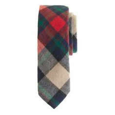 Snazzy plaid tie from J. Crew, $69.50.