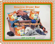 Year Supply of Bounce Dryer Bars Giveaway!