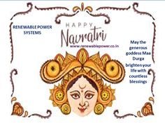 Cherish new beginnings with the arrival of Maa Durga at home. #Renewablepowersystemsdelhi withes #HappyNavratri!