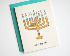 funny hanukkah card sexy hanukkah card light my by rowhouse14 425 - Funny Hanukkah Cards