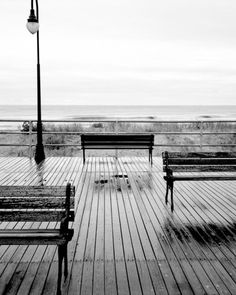Benches Atlantic City Boardwalk