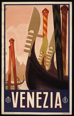 Venezia Italia ~ Venice Italy Travel Art Print by Yesteryears - X-Small Retro Poster, Poster S, Poster Prints, Art Prints, Retro Print, Water Poster, Tourism Poster, Framed Canvas Prints, Stretched Canvas Prints