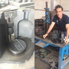 Bottle mould - of solid steel Lima, London, Pure Products, Steel, Bottle, Glass, Limes, Drinkware, Flask