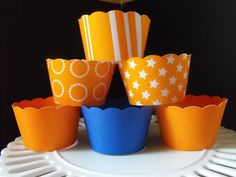 Orange cupcake wrappers!