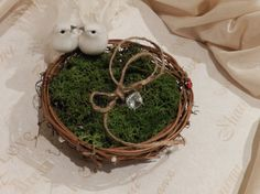 Ring Bearer Pillow  Rustic & Elegant Ring Bearer Birds by ChiKaPea, $24.00