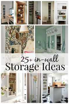 Small space without storage? Add storage between studs to utilize unused space with one of these 25+ In-Wall Storage Ideas at Remodelaholic.com
