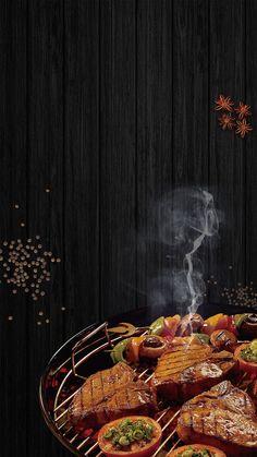 Gourmet steak barbecue promotion h5 background material Food Web Design, Food Graphic Design, Food Poster Design, Food Background Wallpapers, Food Wallpaper, Food Backgrounds, Restaurant Poster, Restaurant Menu Design, Food Banner