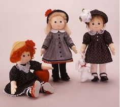 Sew Sweet Dolls. Apple Cheek Girls