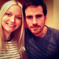 georgettehaig: About to watch this weeks ep of #ouat with this fellow! @ColinOdonoghue1