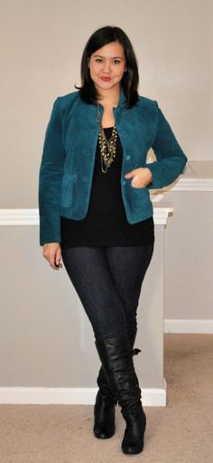 teal suede        Juggling Chic