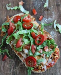 Easy Turkey Taco Pizza Recipe - Jeanette's Healthy Living