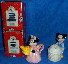 Disney Mickey & Minnie Mouse Creamer & Sugar Bowl Set E11