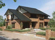 一条工務店 カタログ詳細【LIFULL HOME'S/ライフルホームズ注文住宅】 Home Design Decor, Modern House Design, Home Decor, Mansard Roof, Courtyard House, Japanese House, Building Design, House Plans, Sweet Home