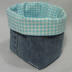 Easy Fabric Crafts for Adults | Recycle a favorite pair of old jeans into handy little baskets. A ...