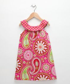 Take a look at this Pink Paisley Emily Yoke Dress - Toddler & Girls by Hippo Hula on #zulily today!