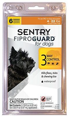 SENTRY Fiproguard Flea and Tick Topical for Dogs, 4-22 lbs, 6 count >>> Click here for more details @