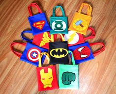 Avengers Birthday, Superhero Birthday Party, Birthday Parties, Diy Party Needs, Hulk Party, Kids Bags, Party Bags, Make And Sell, Halloween Party