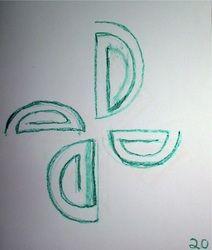 Form drawing. 3rd grade.
