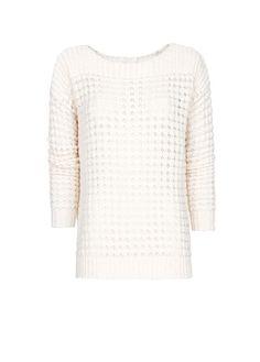 MANGO - Open work textured sweater