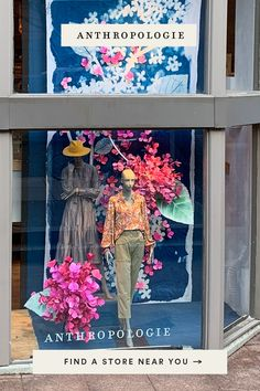 This spring, our store windows celebrate the season with beautifully made cyanotypes – or sun-prints by our very own talented store visual teams!