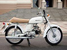 A classic Honda '67 motorbike