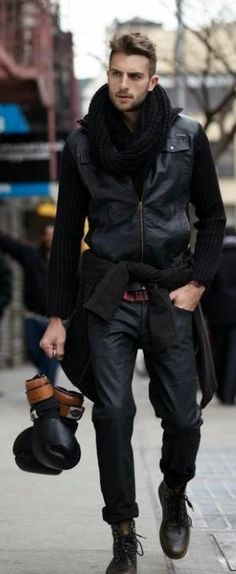 leather jacket & pants