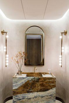 Bathroom Trends, Bathroom Interior, Bathroom Ideas, Bathroom Goals, Powder Room Design, Wet Rooms, Apartment Design, Elle Decor, Bathroom Inspiration