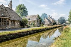 Many of the buildings featured on the Cotswold village trails are 14th-18th century structures with limestone craftsmanship.
