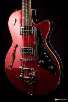 Duesenberg Starplayer Tv, Red Sparkle Including Hard Case