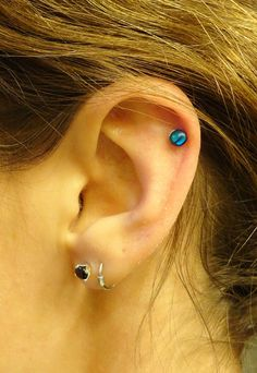 Turquoise Shell Cartliage Earring