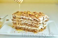 Chutný medový koláčik na spôsobznámej Marlenky, v zdravšom a odľahčenejšom prevedení. Ingrediencie (na 10 porcií): Cesto: 2,5 hrnčeka ovsených vločiek 0,5 hrnčeka vlašských orechov 2-3 PL medu 2 vajcia 100 mlmlieka 1/2 ČL prášku do pečiva 1 ČL škorice Plnka: 400 g jemného tvarohu 3 PL medu/stévie Posýpka: 30 g vlašských orechov upečené cesto (kúsok) […]