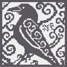 Risultati immagini per modern filet crochet chart