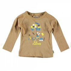 New in : imps & elfs kid forever t-shirt - caramel