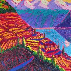 Maibis Navarro Art Original Modern Impressionism Painting representing swiss landscape/ Impressionism/impressionism art/ impressionism painting/ impressionism aesthetic/ Great Business Ideas, Art Original, Impressionism, Modern Contemporary, Oil On Canvas, Painting, The Originals, Nature, Trendy Tree