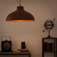 Lampada a sospensione stile industriale in metallo effetto ruggine D 56 cm CASSAGNE