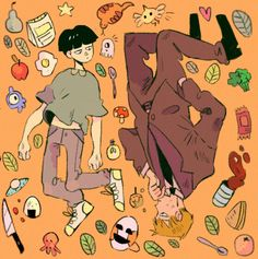 Mob Psycho Kageyama Shigeo and Reigen - Anime In, Character Art, Character Design, Mob Physco 100, Mob Psycho 100 Anime, Arte Sketchbook, Fanarts Anime, Drawing Reference, Cute Drawings