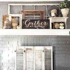 Mantle                                                        … Shelves, Signs, Home Decor, Shelving, Homemade Home Decor, Interior Design, Decoration Home, Home Interiors, Planks
