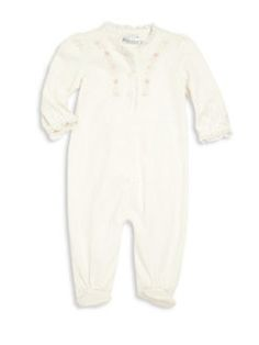 Ralph Lauren - Baby's Pima Cotton Floral Embroidered Footie