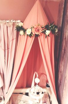 DISCOUNTED Handmade bed canopy nursery cot canopy girls princess bedroom reading nook Pink Grey and White | Pinterest | Girls princess bedroom ... & DISCOUNTED Handmade bed canopy nursery cot canopy girls ...
