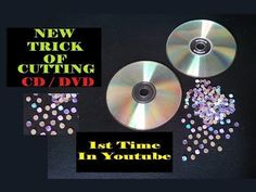 (217) New Method / Trick Of How To Cut CD Into Small Round Shape For Craft Easy At Home / DIY - YouTube