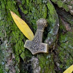 Initiative Jewelry Axe Norse Viking Thors Hammer Mammen Pendant Necklace For Men Boys Box Chain Traveling Necklaces & Pendants