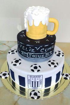 Torta personalizada Alianza Lima ...efecto pizarra y chopp...de ron con pasas. Maricarmen's cakes online Store. 991526566.