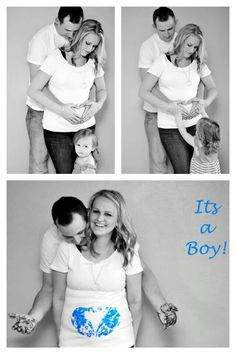 You could do this with Color Powder too! Gender Reveal With Sibling, Gender Reveal Pictures, Baby Gender Reveal Party, Maternity Pictures, Pregnancy Photos, Gender Reveal Photography, 13 Weeks Pregnant, Gender Reveal Announcement, Cute Baby Photos