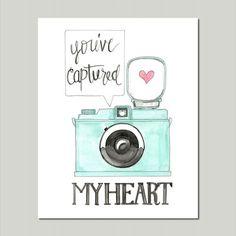You've Captured My Heart Art Print - Paint & Prose