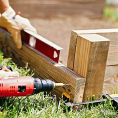 Stand the sidewalls upright and opposite each other, with the posts on the outside. Screw the two side rails to the posts to form the other walls of the raised bed. Again, the ends of the rails should be even with the sides of the posts./