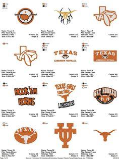 Texas Longhorns Head NCAA Logo Patch sport Embroidery iron,sew on Cloth