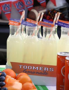 Auburn Straws Toomer's Lemonade. #Orage and #blue #AUBURN Sports stories that inform and entertain plus learn the rules of the game you love on Train Deck. Visit the RollTideWarEagle blog and let us know what you think. It's free.