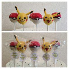 Pikachu and pokeball cake pops Pokemon Cake Pops, Pikachu Cake, Pokeball Cake, Pokemon Party, Pokemon Birthday, Cake Pop Decorating, Cupcakes Decorados, Boy Birthday Parties, 7th Birthday