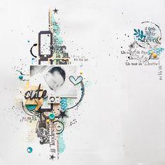 Page Cute par Maska Tampons utilisés : 223C05, 222B01, 129D14, 193I01, 198D03