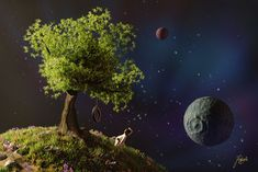 Tree planet, Jakub Kukuryk on ArtStation at https://www.artstation.com/artwork/1z8bL